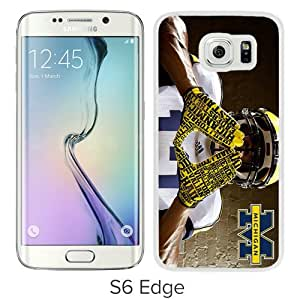 Fashionable And Unique Designed Case For Samsung Galaxy S6 Edge Phone Case With Ncaa Big Ten Conference Football Michigan Wolverines 7 White