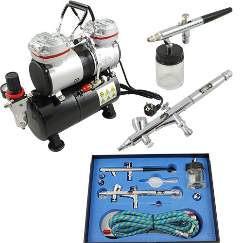 AS-196 & BD280 Airbrush Compressor Complete Set with Gun Fengda