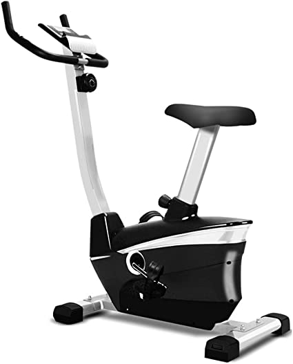 YXRPK Bicicleta Elíptica Spinning Volante De Inercia, Pedal Ajustable Antideslizante, Ajuste Manual De 8 Velocidades, Pantalla LCD, Diseño De Soporte Triangular Doble: Amazon.es: Deportes y aire libre