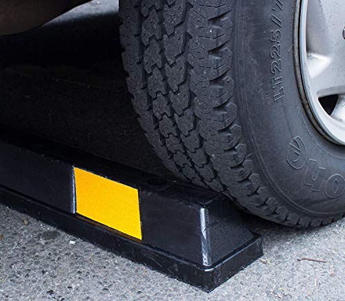 RK-BP72 Heavy Duty Rubber Parking Curb, Parking Block, 72 -inch for Car, Truck, RV and Trailer Stop Aid with 4-Piece Anchor Kit by RK (Image #5)