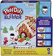 Play-Doh Builder Gingerbread House Toy Building Kit for Kids 5 Years and Up with 6 Non-Toxic Colors - Easy to