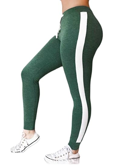 9beebeb40e71d GenericWomen Sports Drawstring Gym Workout Fitness Yoga Leggings Pants at  Amazon Women's Clothing store: