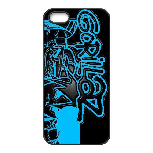 Gorrilaz 006 coque iPhone 4 4S cellulaire cas coque de téléphone cas téléphone cellulaire noir couvercle EEEXLKNBC25473