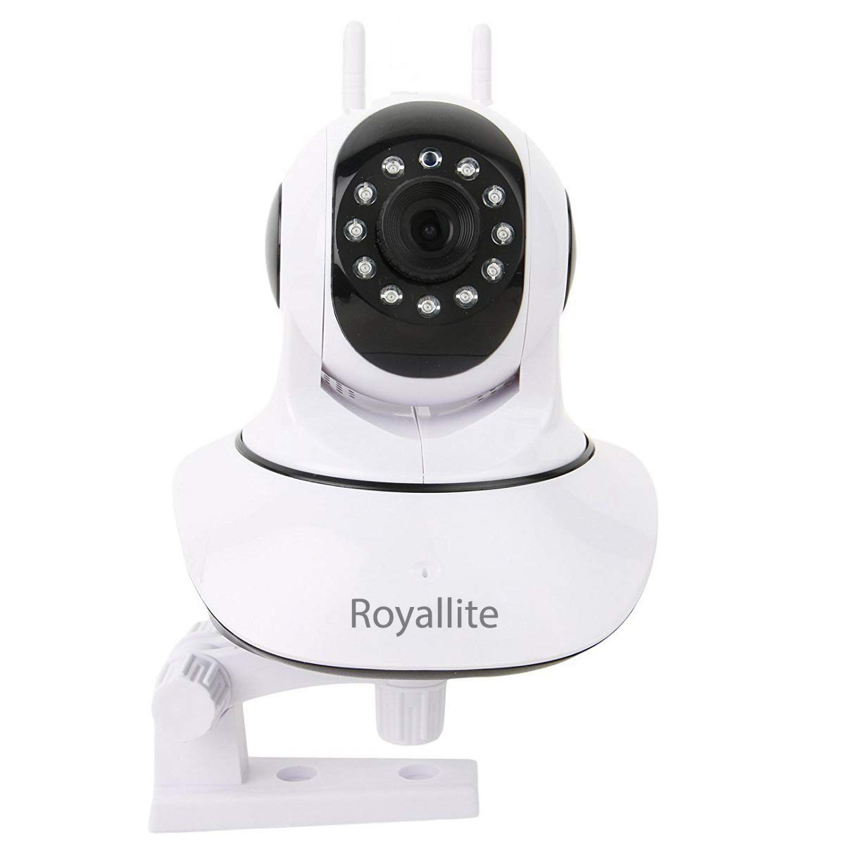 Royallite Wireless HD IP Wifi CCTV Indoor Security Camera (Support upto 128  GB SD card) (White Color)