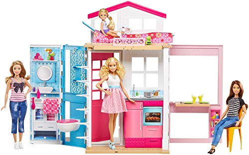 Barbie 2-Story House with Furniture & - Dolls Barbie Accessories
