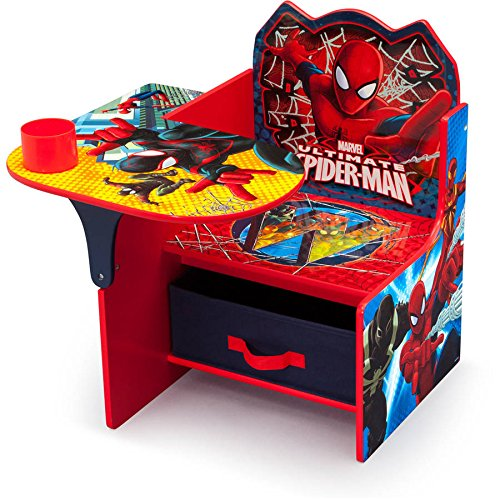 Delta Children Spider-Man Chair Desk with Storage Bin Mar