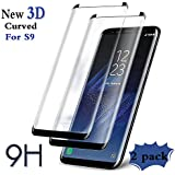 Galaxy S9 Screen Protector, (2-Pack)Tempered Glass Screen Protector[Force Resistant Up to 11 Pounds][Easy Bubble-Free Installation]Compatible with Samsung Galaxy S9 (5.8