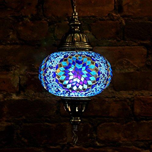 Glass Mosaic Bowl Pendant - 9