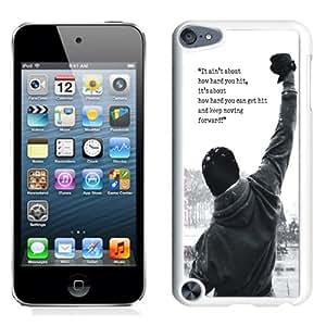 Fashionable Custom Designed iPod Touch 5 Phone Case With Rocky Balboa Motivational Words_White Phone Case