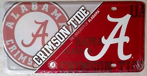 FanNut.com Alabama Crimson Tide 150103 NEW DESIGN Metal License Plate Tag University of