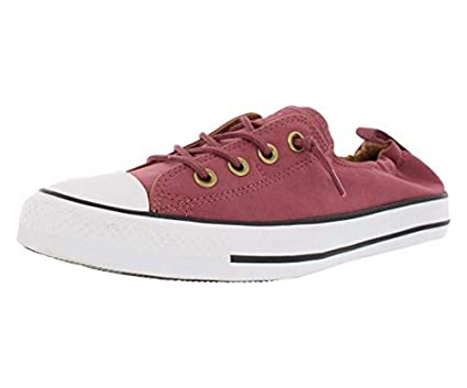 3b194da674779 Converse Womens CHUCK TAYLOR ALL STAR SHORELINE SLIP, WHITE/BURGUNDY
