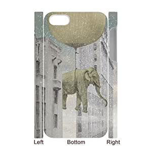 3Delephant in the sky snow For Samsung Galaxy S6 Case Cover With Unique Design With White