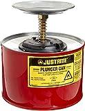 Justrite 10208 2 Quart Red Galvanized Steel