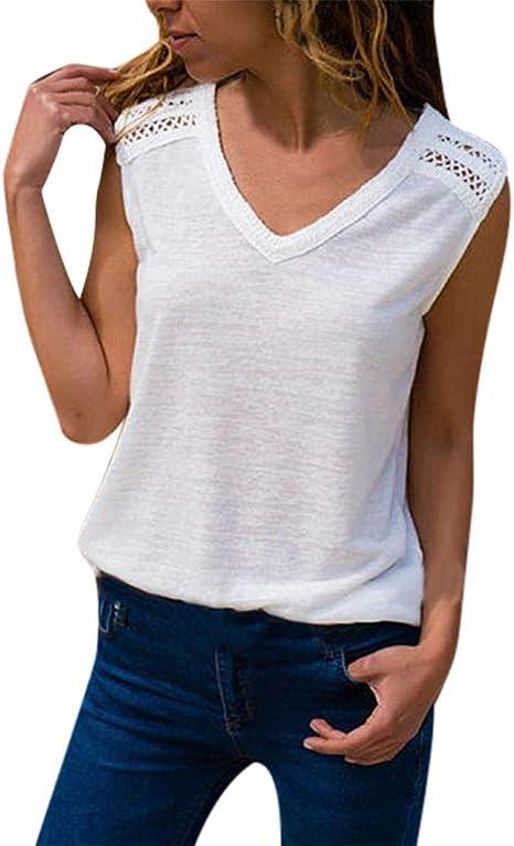 Dorical Camisetas Camisetas Mujer Manga Corta Gatos Camiseta para Mujer Camisetas Deporte Mujer Talla Grande Camisetas Tirantes Mujer Tallas Grandes Patrones 2019 Camisola sin Mangas Top: Amazon.es: Ropa y accesorios