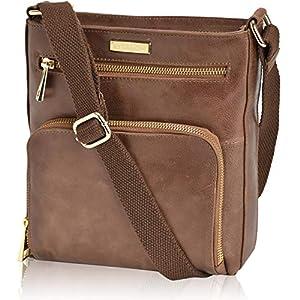 Crossbody Bags for Women – Real Leather Small Vintage Adjustable Shoulder Bag