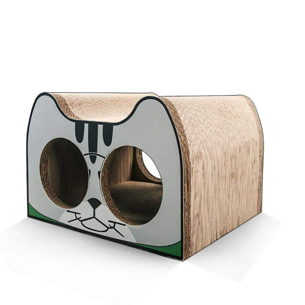 JYZ Pet Cheer Cat Scratch Board, Ultimate Scratcher Lounge Bed With Catnip,Durable Cardboard And Construction