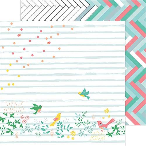 Pinkfresh Studio PFRC100116H 25 Sheet Confetti Garden Felicity Double-Sided Cardstock, 12
