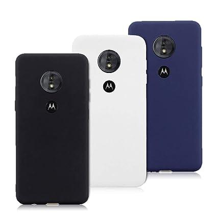 cf58bea7ca9 3X Funda Motorola Moto G6 Play, Trasero Color Sólido Cáscara Flexible Goma  Suave Delgado Gel