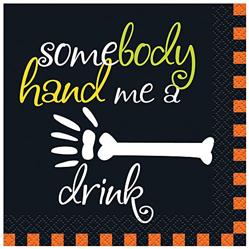 Hand Me A Drink Halloween Cocktail Napkins, 16ct