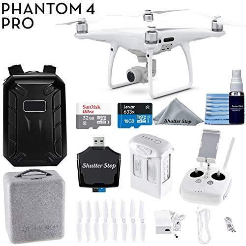 DJI Phantom 4 PRO Professional Drone CP.PT.000488 + Hardshell Backpack + 32GB SanDisk Memory Card + Card Reader + Quadcopter Starter Bundle
