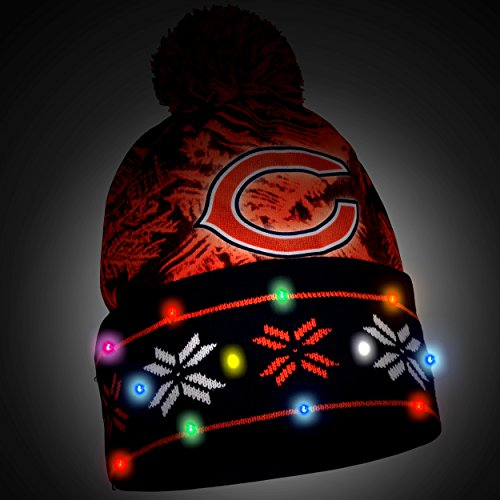 Chicago Bears Light Up Hat Football Theme Hats
