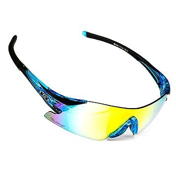 CoolChange deportes gafas de sol polarizadas, Azul y negro ...