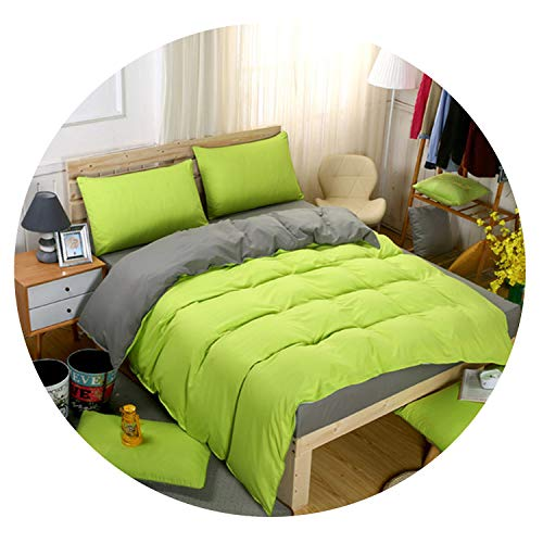 Super King Set +Beige 3/ 4pcs Bed Set Duvet Flat Sheet 230250cm,Green Grey,Full