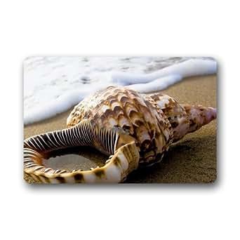 Custom lavable Felpudo (concha de mar en playa Felpudo 23,6en x 15,7en