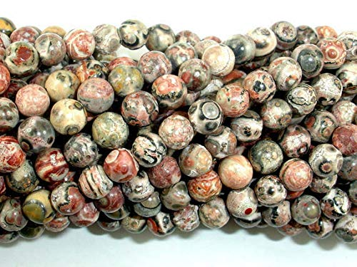 Bead Jewelry Making Art Craft Leopard Skin Jasper Beads, 5.5mm Round Beads, 15.5 Inch ()