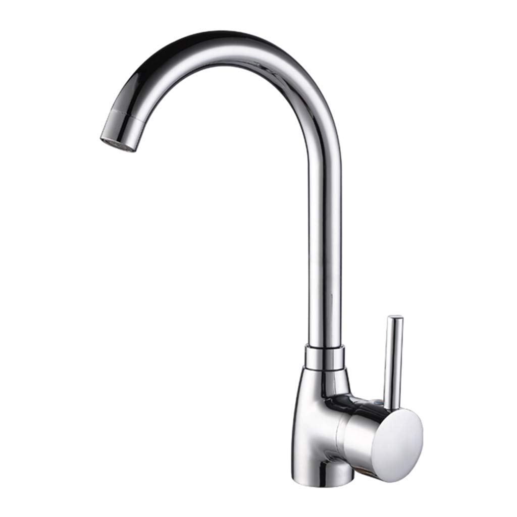 Yxx max Bathroom Kitchen Faucet Hot and Cold 360 Degree Rotating Sink Faucet Lever Faucet