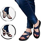 AEROTHOTIC Original Orthotic Comfort Slip On Sandals and Flip Flops with Arch Support for Comfortable Walk (US Women 11, Thistle Navy)