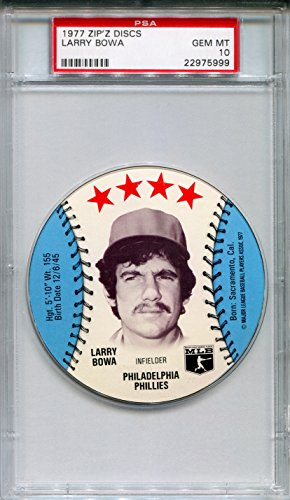 1977-msa-zipz-sundaes-sports-discs-larry-bowa-rare-psa-gem-mint-10-sp-philadelphia-phillies-chicago-