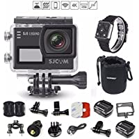 SJCAM SJ6 w/ Remote Watch, SJ6000 LEGEND 2″ LCD Touch Screen 2880×2160 4K Action Camera Novatek NT96660 Panasonic MN34120PA CMOS - Black