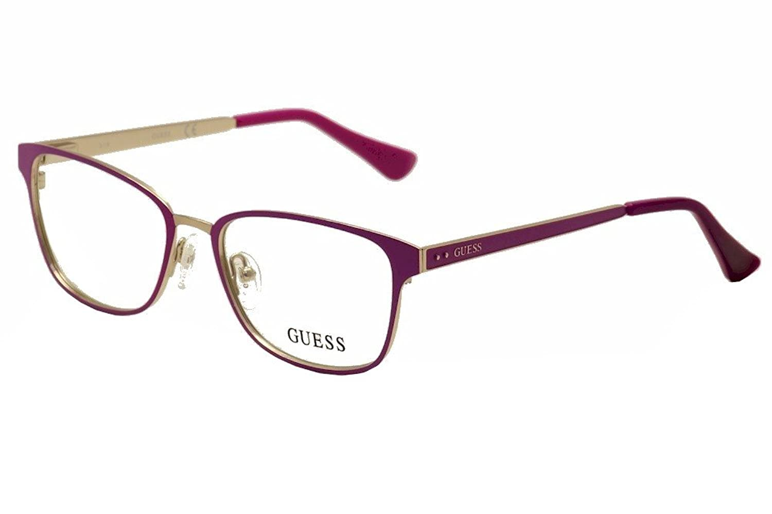 Guess Women\'s Eyeglasses GU2550 GU/2550 076 Plum Full Rim Optical ...