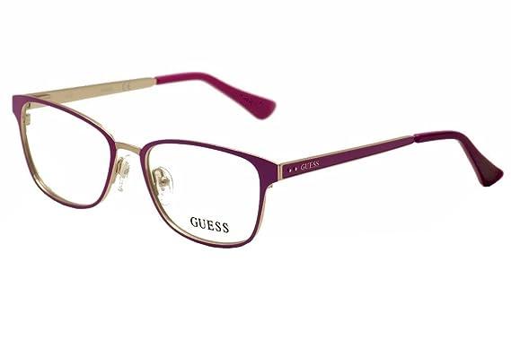 cc5b1a13ae Guess Women s Eyeglasses GU2550 GU 2550 076 Plum Full Rim Optical Frame 52mm
