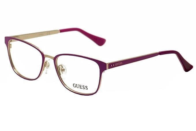 Guess Womens Eyeglasses GU2550 GU/2550 076 Plum Full Rim Optical Frame 52mm