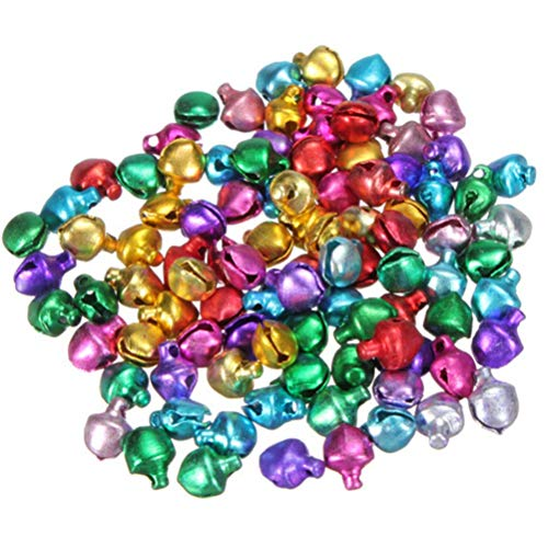 Face In Hole Free - 100pcs Lot 6 8 10mm Mix Colors Loose Beads Small Jingle Bells Christmas Decoration Gift Wholesale - Making Jewelry Bead Beads Kids Small Craft Glass Bells Wholesale
