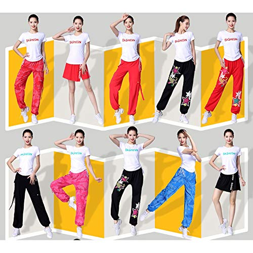 Sportivo colore Abbigliamento R Xiao Hop Hip Street Da Dimensioni Summer Jian Shirt Uniforme M Ballo Dance Pants R5wO5nzq6
