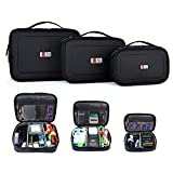 Electronics : BUBM 3pcs/set Travel Office Gear Organizer Electronics Accessories Bag Small Gadget Carry Storage Bag Pouch