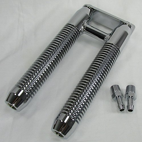 DUAL Finned Billet Oil-Cooler for MOST Harley Models with Parallel Downtubes - CHROME - Many Clamp/Mount Sizes Available - Motorcycle Custom Chopper Bobber