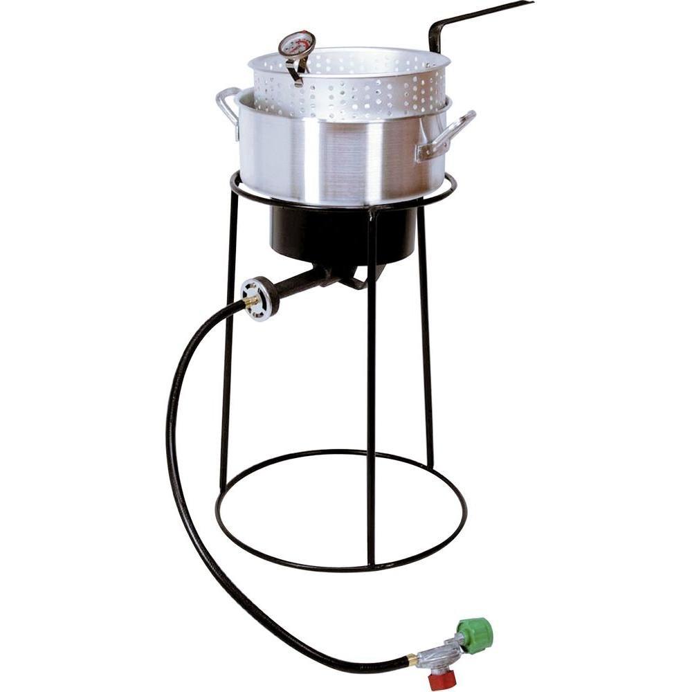 B000BWCUXM King Kooker 22PKPT 20-Inch Propane Outdoor Cooker with 9-Quart Aluminum Fry Pan 51JxbF2BHr4L
