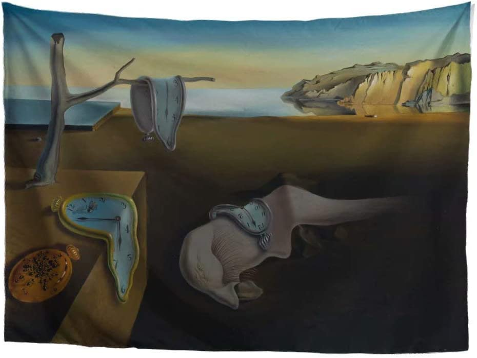 World Classic Art Masterpiece Tapestry Series Salvador Dalí, The Persistence of Memory, Expressionism, 1931. Classical Art Tapestry, Wall-Hanging Antique, Vintage, Collection,Home Décor