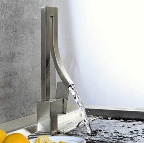 Diongrdk Alle Kupfer Küche Wasserhahn, Kaltes Und Warmes Wasser, Europäischen Stil Kreative Hahn Waschbecken, Einloch, Single Tap Gedreht Werden können.