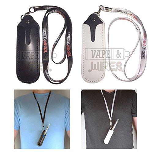 Premium Faux Leather EGO Necklace Lanyard for eGo-t, eGo-w, eGo-c, eGo-F, eGo Twist, eCig- Carry Case in Black or White (White)
