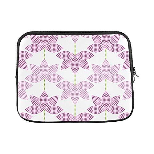 Design Custom Magic Lotus with Bright Thinking Zen Life Spirit Meditation Yoga Sleeve Soft Laptop Case Bag Pouch Skin for MacBook Air 11
