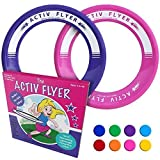 Active Life Best Kids Frisbees [Pink/Purple] Christmas Fun Gifts & Birthday Presents - Cool Toys for Girls & Women to Play Outdoor in Pool or Backyard - Grand Daughter Niece Granddaughter Mom Ideas