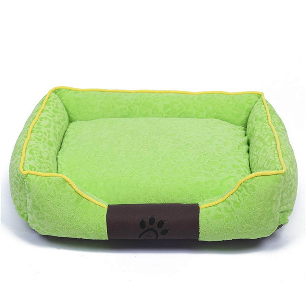 65x50x17cm Mzdpp Luxury Detachable Wearable Soft Cat Dog Bed Washable Mattress 3 Size Square Green 65  50  17Cm