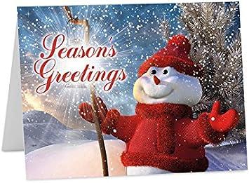 Navidad año nuevo 2018 estaciones tarjetas de felicitación Tamaño A6 o A5, Pack of 10 (A6 folded): Amazon.es: Oficina y papelería