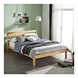 PAINTS.CUI Modern Concise Bed Solid Wood Single/Double Bed Bedroom Furniture (Double: 165 93 215cm/64.96''36.61''84.65'')