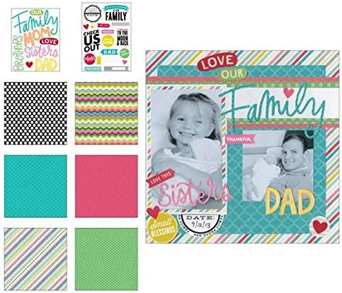 8-Inch by 8-Inch me /& my BIG ideas Scrapbook Page Kit Our Family